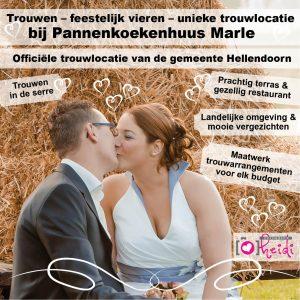 Pannenkoekenhuus Marle is een officiële trouwlocatie van de gemeente Hellendoorn.